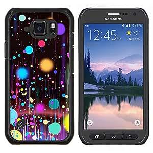 Caucho caso de Shell duro de la cubierta de accesorios de protección BY RAYDREAMMM - Samsung Galaxy S6Active Active G890A - Planetas Pintura Spots Arte Petróleo