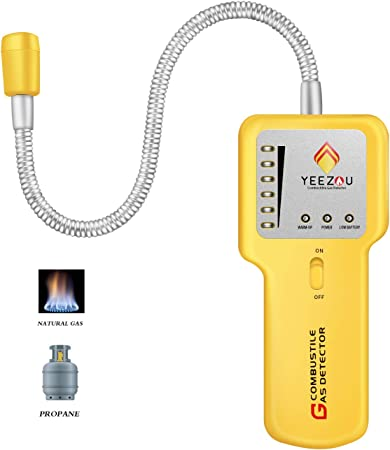 Portable Combustible Natural Gas Propane Leak Detector Tester Visual Leakage US