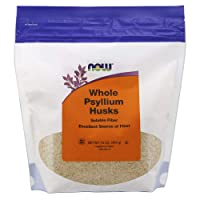 NOW  Psyllium Husks Whole, 16-Ounce(Packaging may vary)