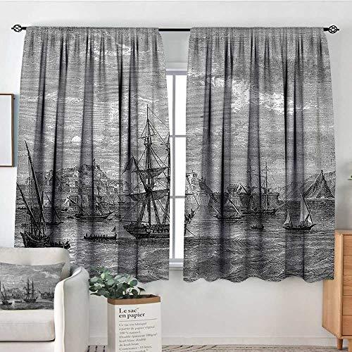 RenteriaDecor Antique,Kid's Customized Curtains History of France Elba 42