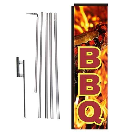 Amazon.com: Bandera rectangular para barbacoa, diseño de ...