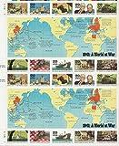 WWII, 1941: A World at War (World War II), Full Sheet of 20 x 29-Cent Postage Stamps, USA 1991, Scott 2559
