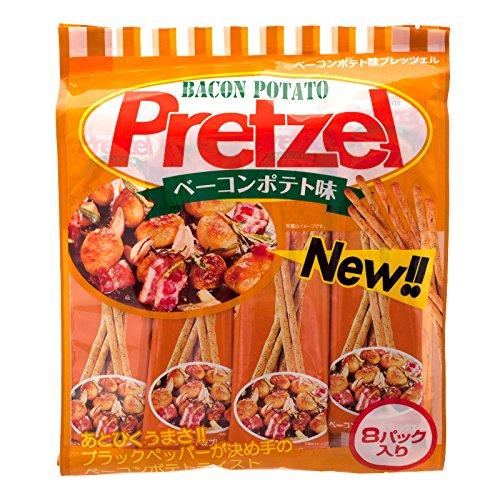 Golden Fuji, Pretzel Stick, Bacon Potato Flavour, net weight 128 g (Pack of 2 pieces)