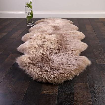 Thick Large Genuine Sheepskin Rug Natural Pelt Long Wool Carpet Rug Lambskin Mat