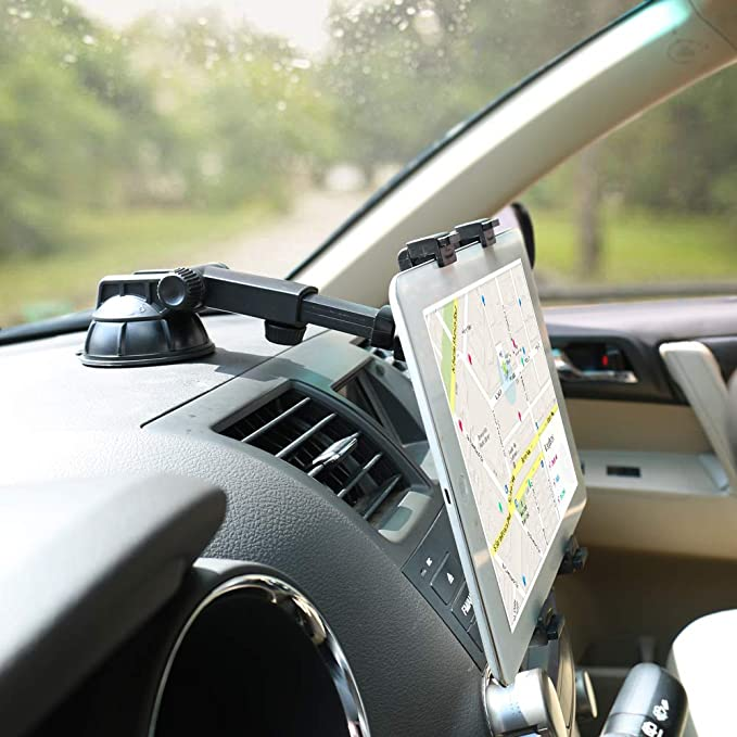 Tablet Holder for Car Dashboard Windshield Mount,Adjustable Universal 360/° Adjustable Rotating for iPad Samsung Galaxy6-10.5 Tablet TPU Suction Cup Sticky Gel iPad Mini iPad Air