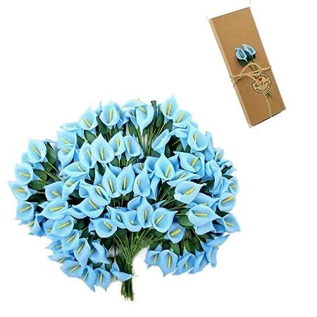 Jzk 144 foam blue calla lily small artificial flowers for crafts jzk 144 foam blue calla lily small artificial flowers for crafts favour box gift box mightylinksfo