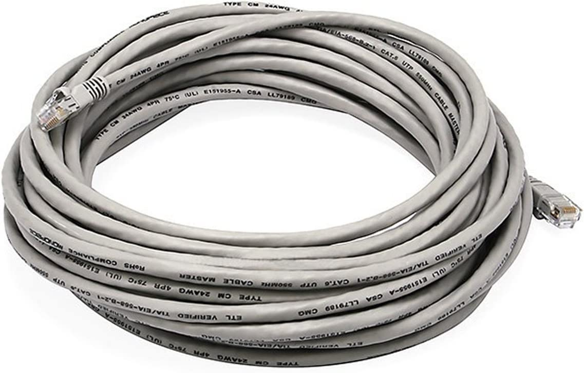 Cat6 UTP Network Ethernet Internet Cable Wire Black 550MHz 24AWG LAN Cat 6 30ft