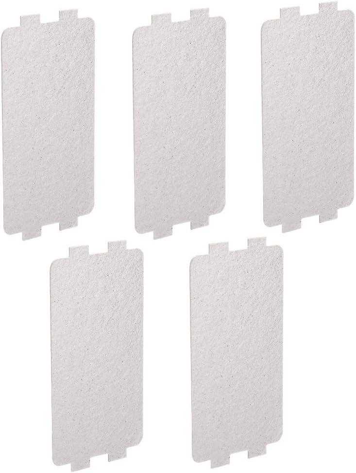 Ersatz Reparatur Zubeh/ör Waveguide Abdeckung Glimmerplatten Bl/ätter 5 ST/ÜCKE Mikrowelle Reparatur Teil
