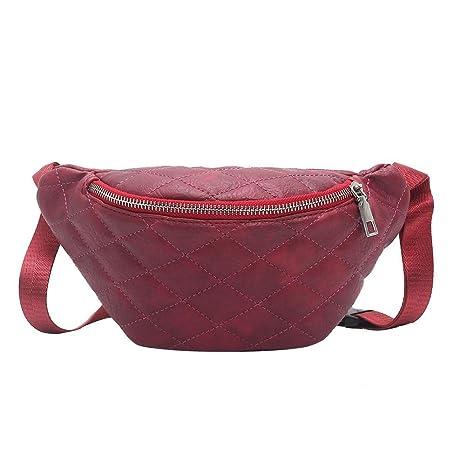 xintiandi colore solido donne vita pacchetti trendy semplice PU spalla borse  casual cintura 06e7c572023e