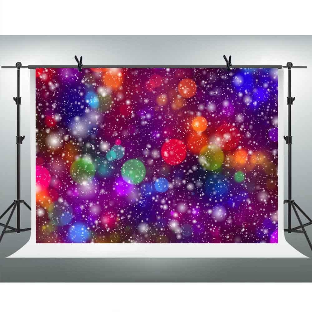 FHZON 10x7フィート カラフル キラキラ 背景 輝く光るスポット背景 ポートレート アート 写真撮影 ブース ビデオ 小道具 GEFH452   B07HCVYLRP