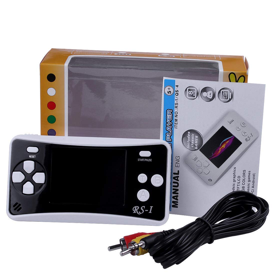 SKYRC Handheld Game Console for Kids,Classic Retro Game Player with 2.5'' LCD 8-Bit Portable Video Games Compatible with PAL AAD NTSC TV ,152 in 1 Classic Games -- (Black) by SKYRC (Image #4)