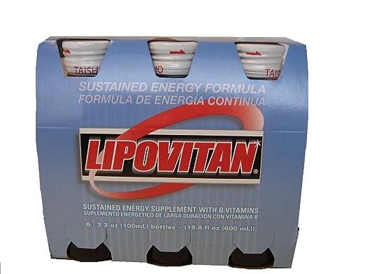 Lipovitan with B Vitamins Energy Drink 3.3 Oz - 100 ml Bottle (Pack of 12)