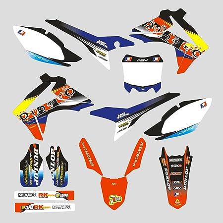 Jfg Racing Custom Motorrad Komplettkleber Aufkleber Aufkleber Grafik Kit Für Honda Crf450r 13 16 Auto