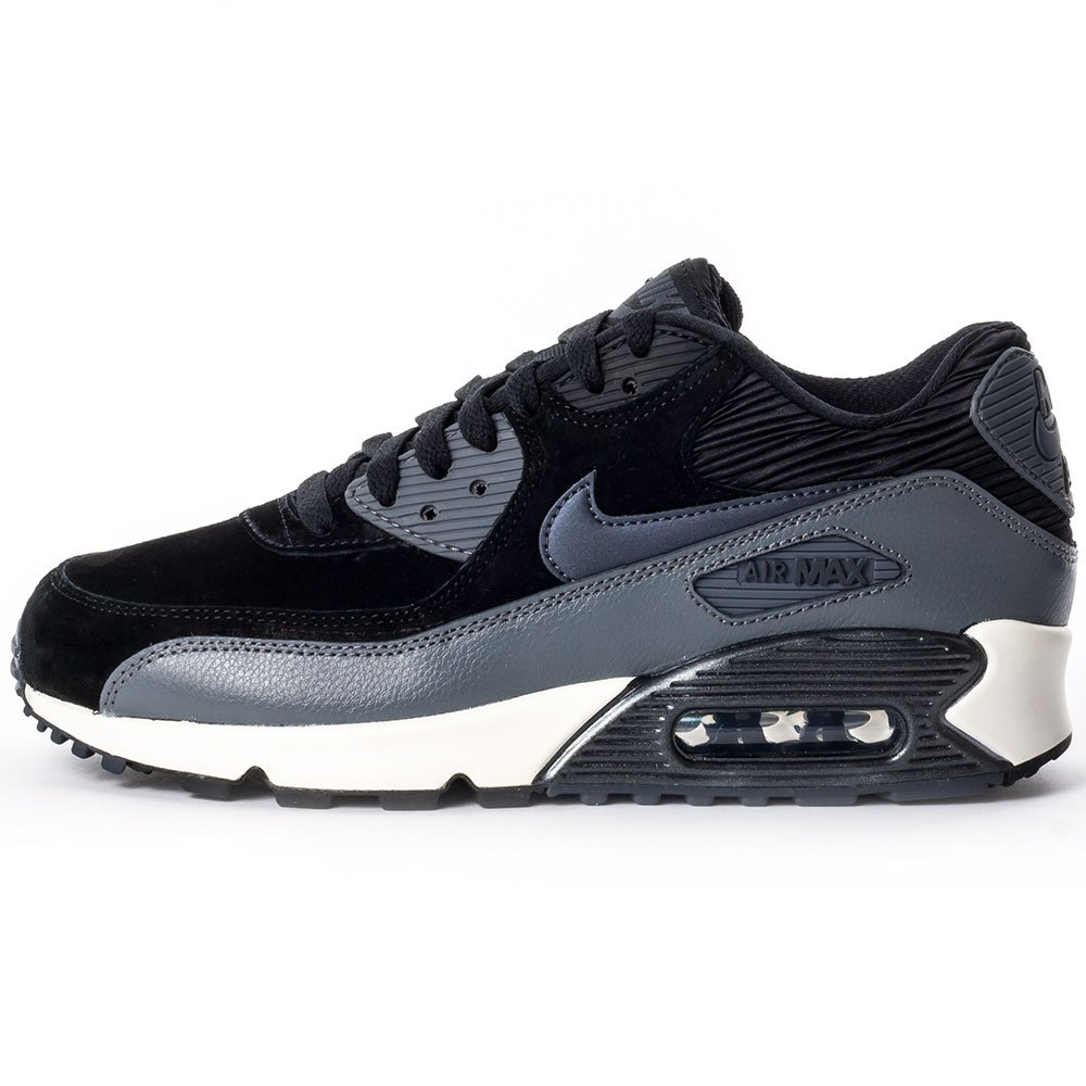 4dffb586f7 Nike Air Max 90 Leather Women Schuhe black-metallic hematite-dark grey-sail  - 36: Amazon.co.uk: Shoes & Bags
