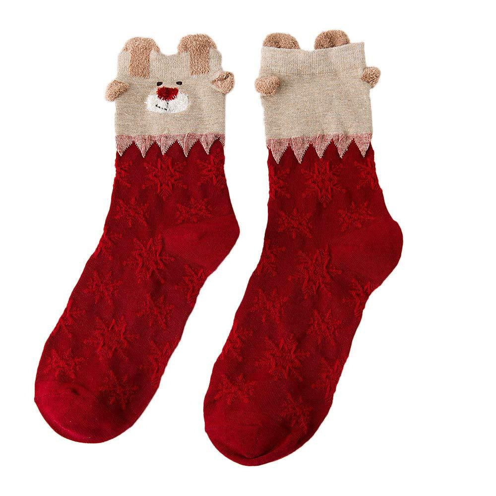 Multi-Color Short Socks, Women Girls Cute Pet Cartoon Winter Cotton Socking (C)