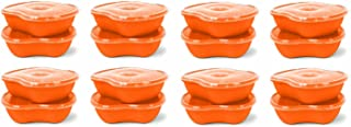 product image for Preserve Dishwasher Safe BPA Free Sandwich Food Storage Container Made from Recycled Plastic in the USA, Bulk Set of 16, Orange