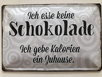 Deko7 Cartel de Chapa 30 x 20 cm dise/ño con Texto en alem/án