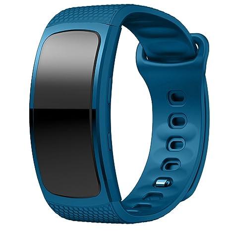 Cewaal Bandas de repuesto para Gear Fit2 SM-R360, pulsera de silicona Skin Skin 170-220mm para Samsung Smartwatch