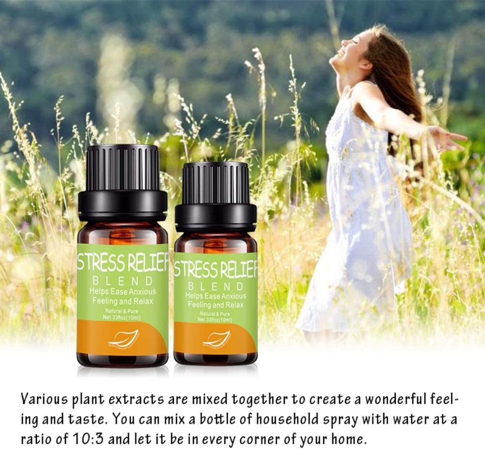 Lucoss Aceite Esencial 10ml,Aceites Esenciales antiestrés Puros y ...