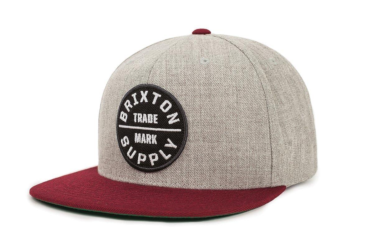 c056e2c043143 Amazon.com  Brixton Men s Oath III Medium Profile Adjustable Snapback Hat