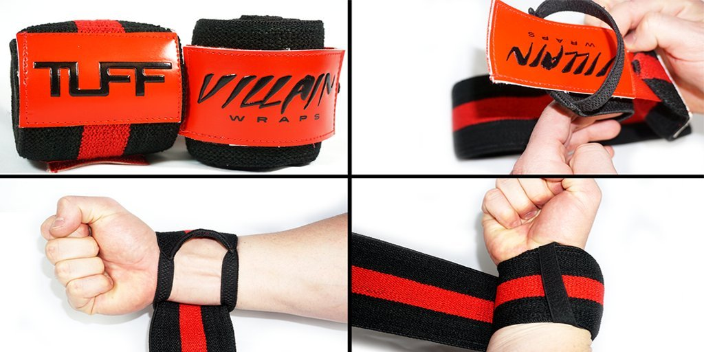 Villain Wrist Wraps 16'' for Powerlifting, Weightlifting, Strongman Training, Crossfit - (All Black, 16 Inches) by Villain Wraps (Image #5)