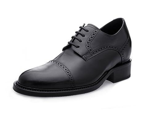 GuidoMaggi Outlet - Mocasines con cordones, elegantes, con alza de 7.5 cm - CIMONE - Negro - Talla 43 EU: Amazon.es: Zapatos y complementos