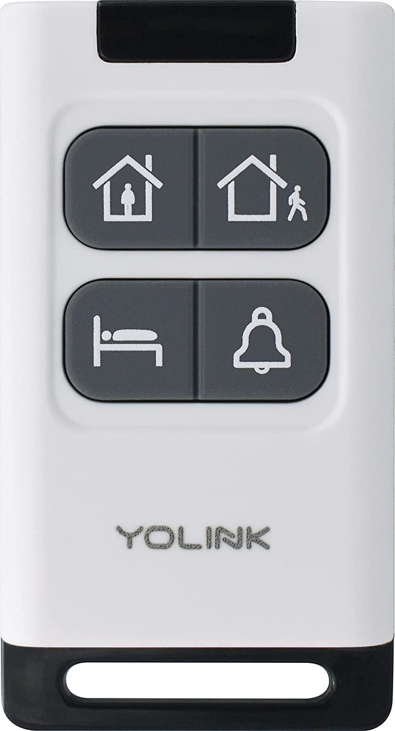 AlarmFob YoLink Security/Intrusion/Panic Alarm Smart Keyfob, Accessory for YoLink System - Home, Away, Sleep, Panic Button, Personal Security Control System. 1000' Range! Hub Required!