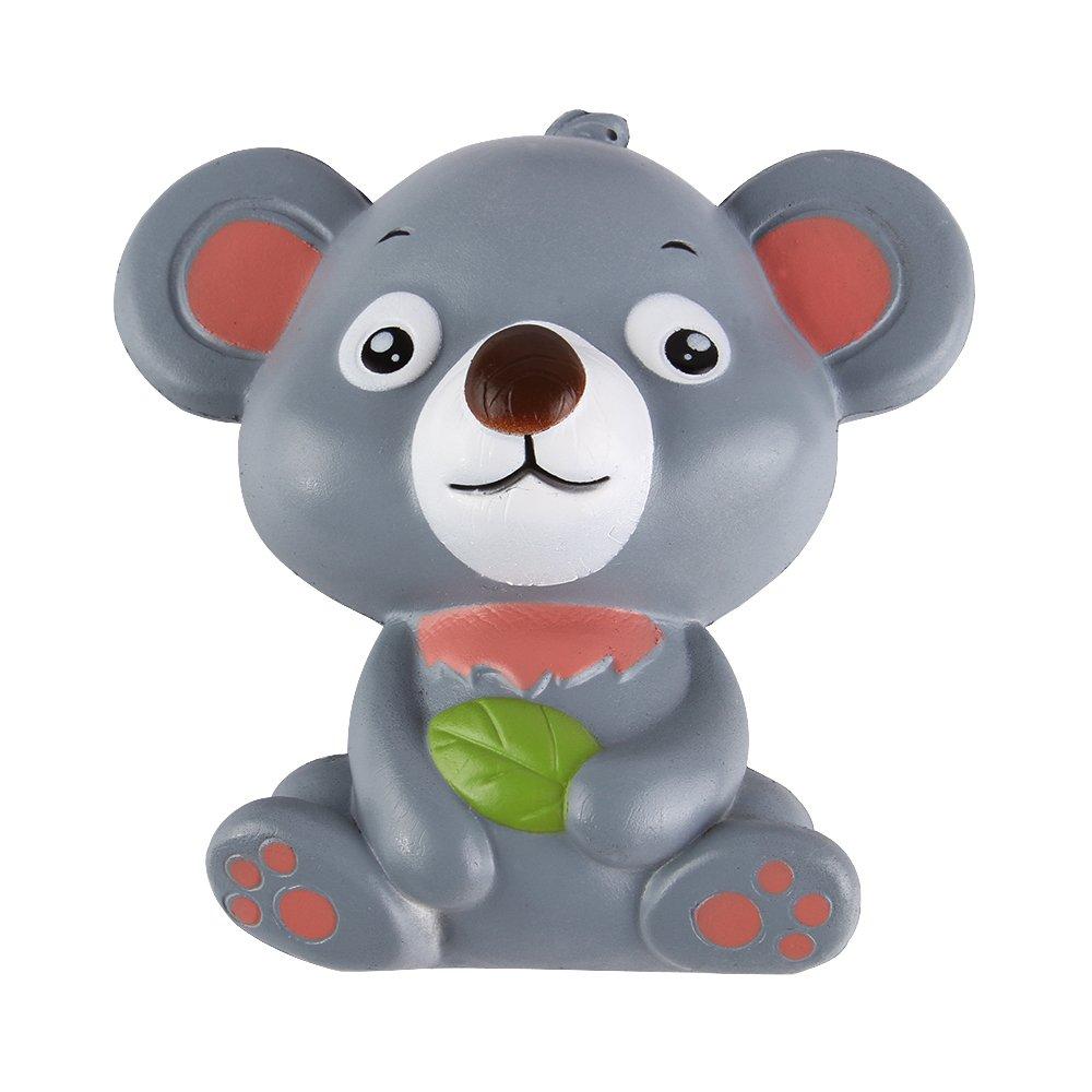 "Anboor 4.9"" Jumbo Squishies Koala Slow Rising Kawaii Scented Squishies Animal Toys Gray"