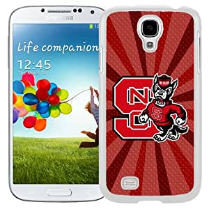 Customized Galaxy S4 Case with NCAA Atlantic Coast Conference ACC Footballl NCAA 4 Logo Cell Phone Hardshell Cover Case for Galaxy S4 SIV S IV I9500 I9505 White