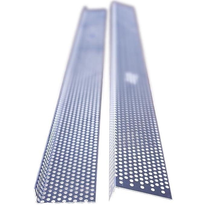 beidseitig oval gelocht Aluminium Fassadenprofile 20 Stab L/üftungswinkel 30x40 mm 2 Meter Marderschutz L/üftungsgitter Fassade