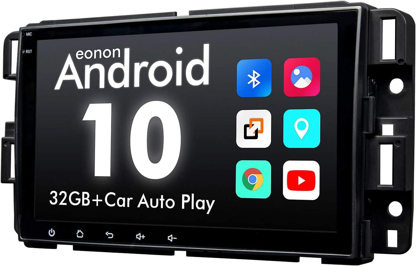 2020 Newest Double Din Car Stereo, Eonon 8 Inch Android 10 Car Radio Compatible with Chevrolet/GMC/Buick, GPS Navigation Radio Support Split Screen/Built-in Apple Carplay/DSP-GA9480A