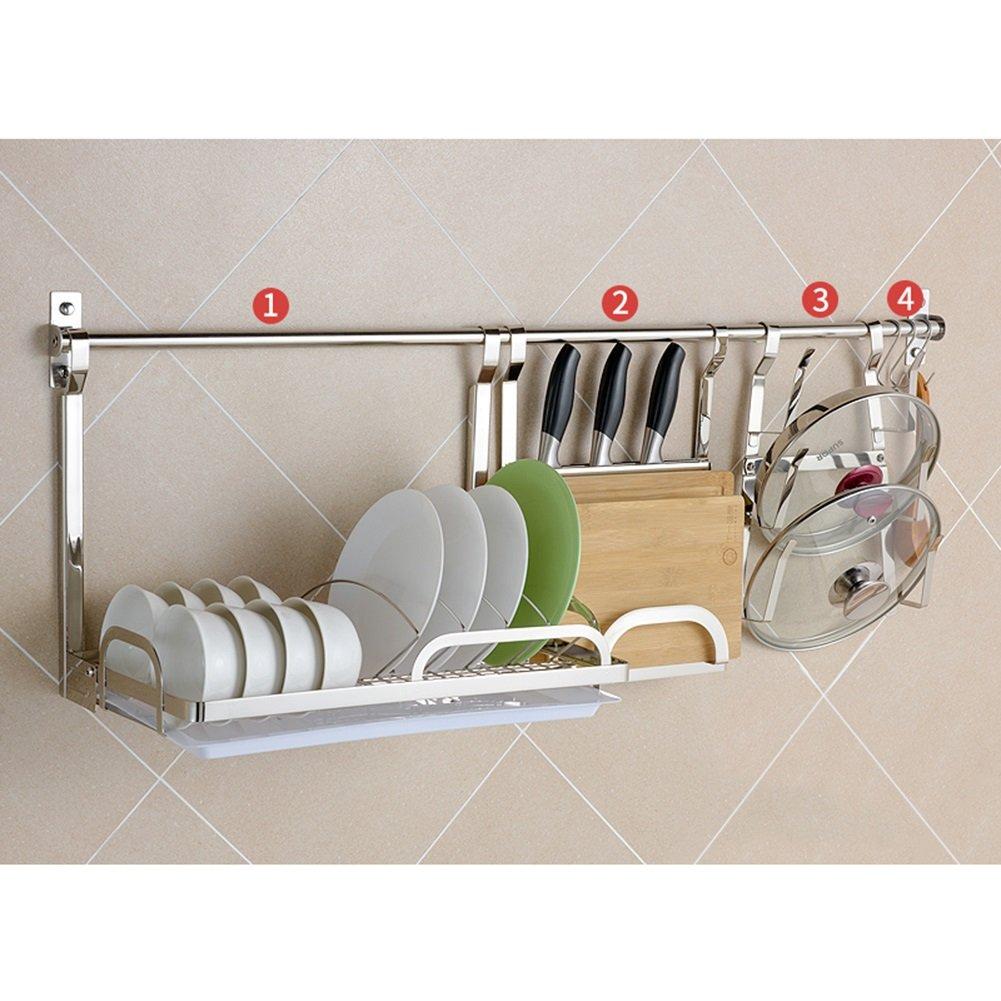 LXLA304ステンレススチール製のキッチンシェルフウォールマウントシーリング用品壁掛け用テーブルウェア食器棚チョッピングボードポッドリッド料理収納ラック ( 色 : Style 3 ) B07C1MSTGV Style 3 Style 3