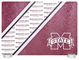 Duck House NCAA Mississippi State Bulldogs Tempered Glass Cutting Board with Display Stand