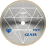 QEP 6-7006GLQ 7-Inch Continuous Rim Glass Tile Diamond Blade, 7mm Rim Height, 5/8-Inch Arbor, Wet Cutting, 8730 Max RPM (Renewed)