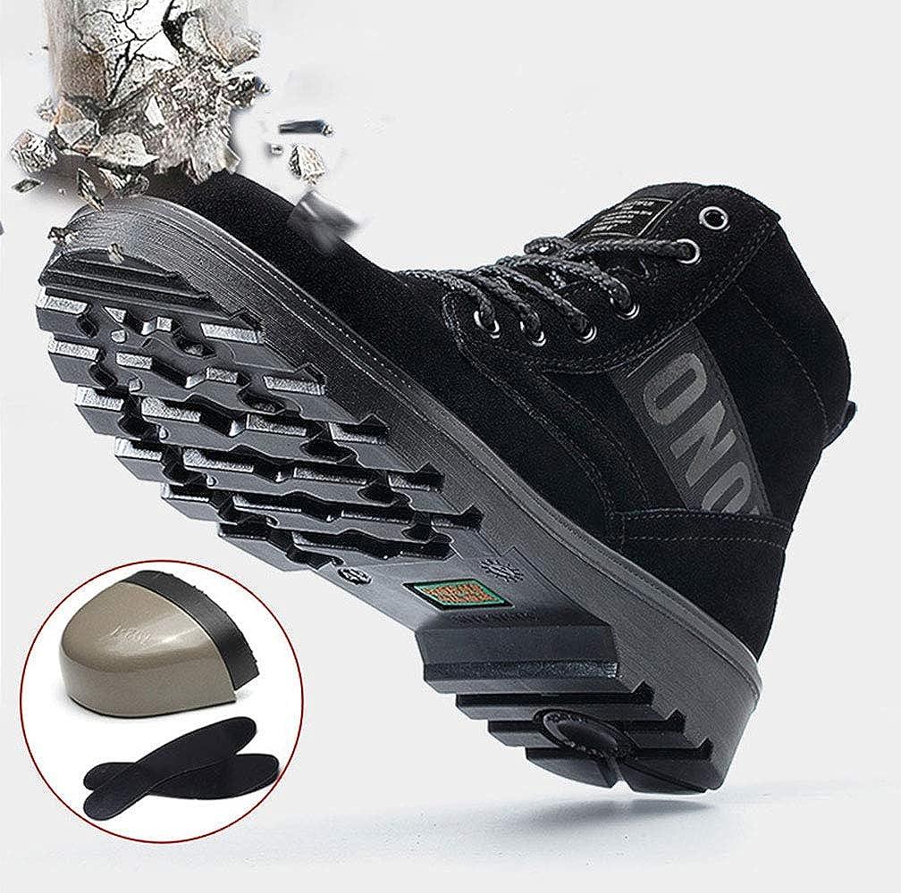 YHHF Botas Seguridad Mujer Ligeros s3 Cuero Zapatos de Seguridad Invierno Punta de Acero Botas de Trabajo