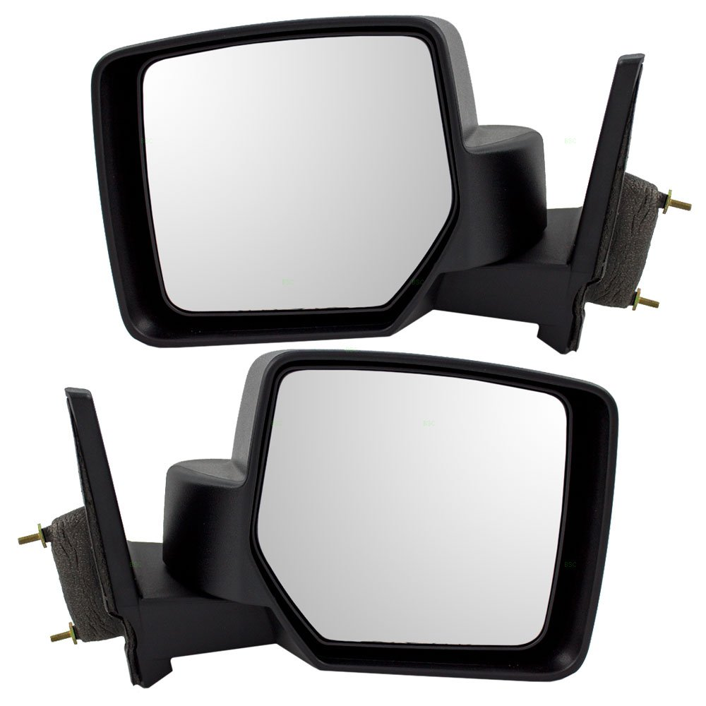 Driver and Passenger Manual Side View Mirrors Textured Replacement for Jeep Patriot 5155457AH 5155456AH