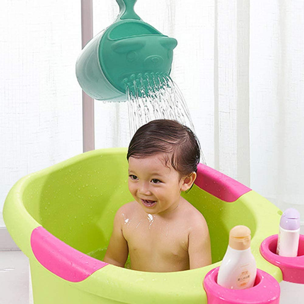 IWILCS Shampoo Cup Shower Shampoo Cup Green Waterfall Rinser Watering Flowers and Brushing Cups for shampooing and Bathing Bear Shampoo Cup