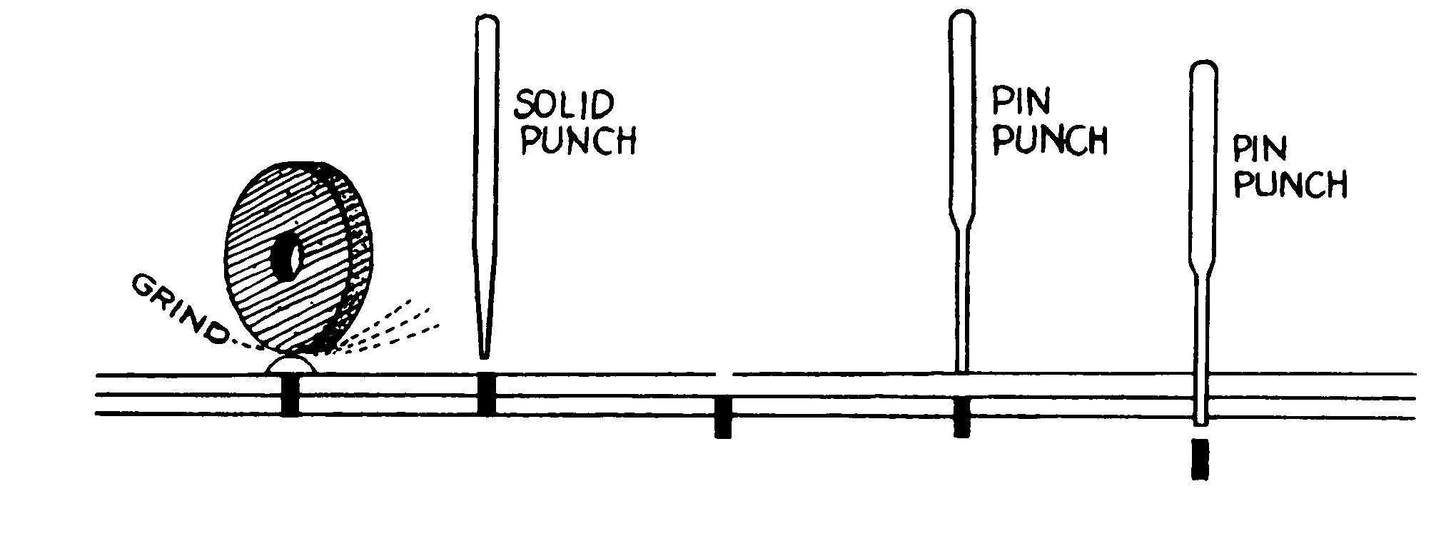 Wilde Tool PLT 432 Long Taper Punch, 1/8 inch
