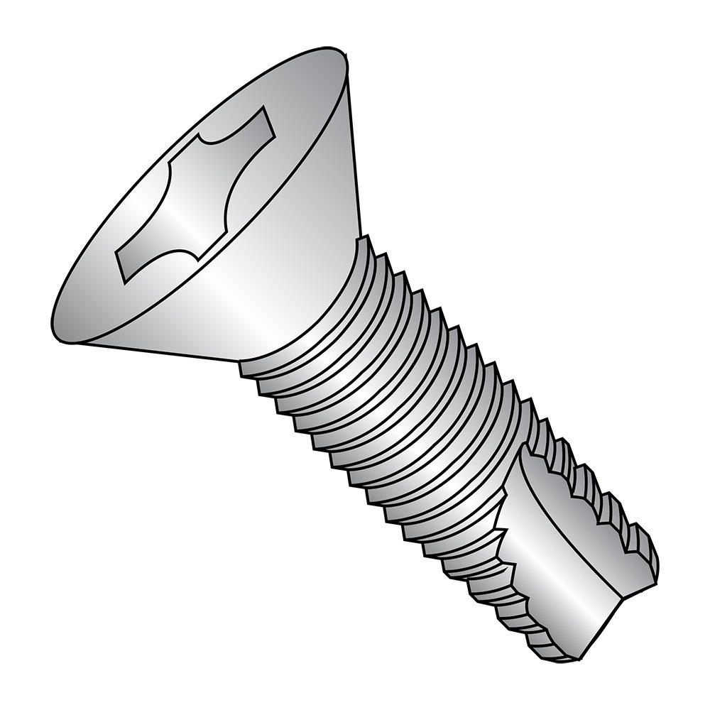 Type 23 Pan Head Steel Thread Cutting Screw Black Zinc Plated #8-32 Thread Size 5//8 Length Pack of 50 Phillips Drive