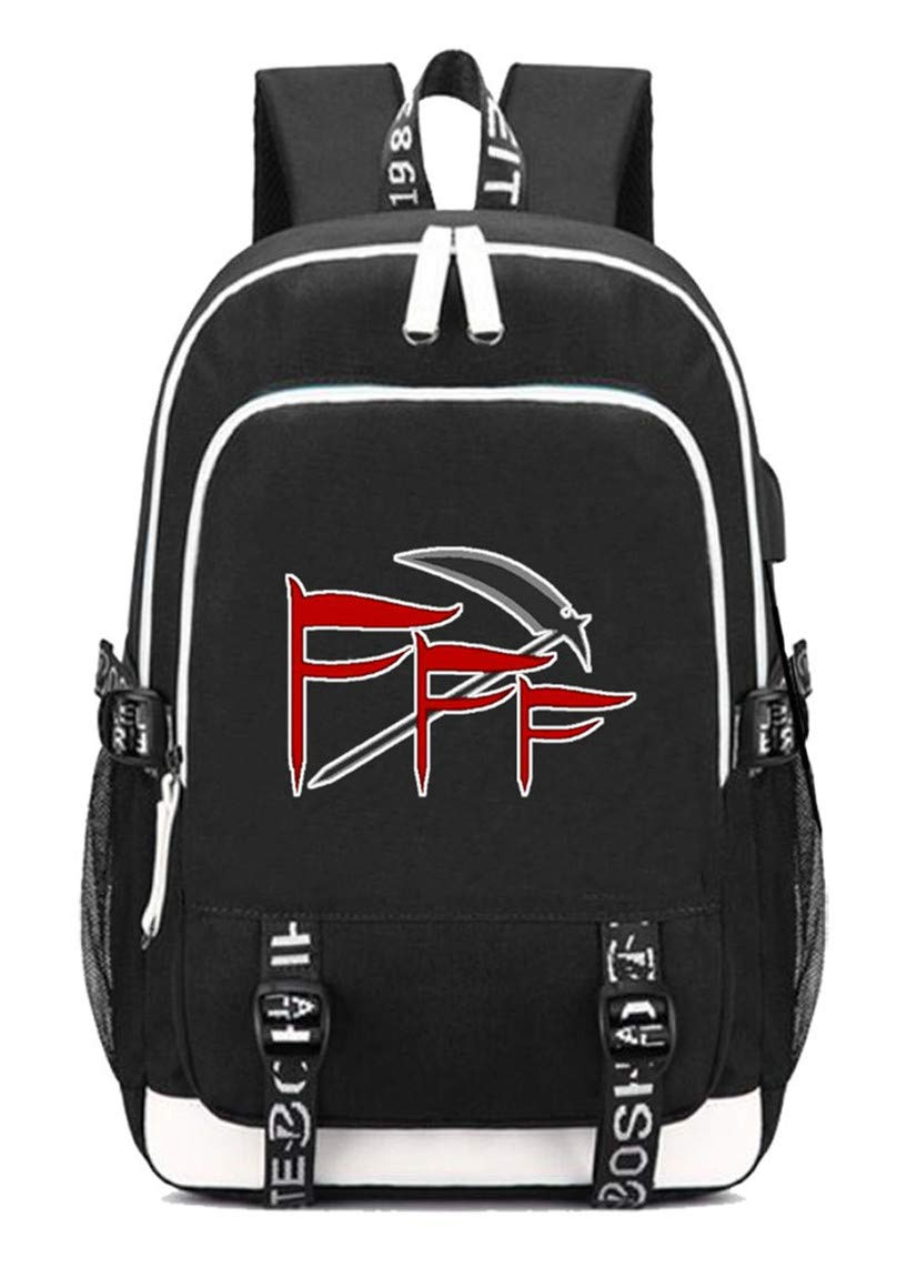 Fff  3 Cosstars FFF Anime Rucksack Schoolbag Laptop Backpack with USB Charging Port and Headphone Jack  2