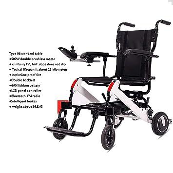 Dapang Silla de Ruedas eléctrica Ancianos Coche discapacitado ...