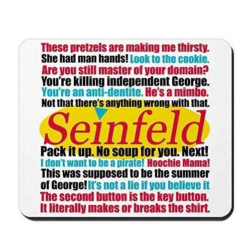 5442d43d288d CafePress - Seinfeld Quotes Logo - Non-slip Rubber Mousepad