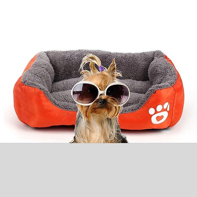 Vandot Cómodo Casa para Mascotas, Cama para Perros Perrera Gato del Perro de Perrito Sofa House Bed, Almohada Cama Cachorro Suave Mat Caliente Manta Cojín ...
