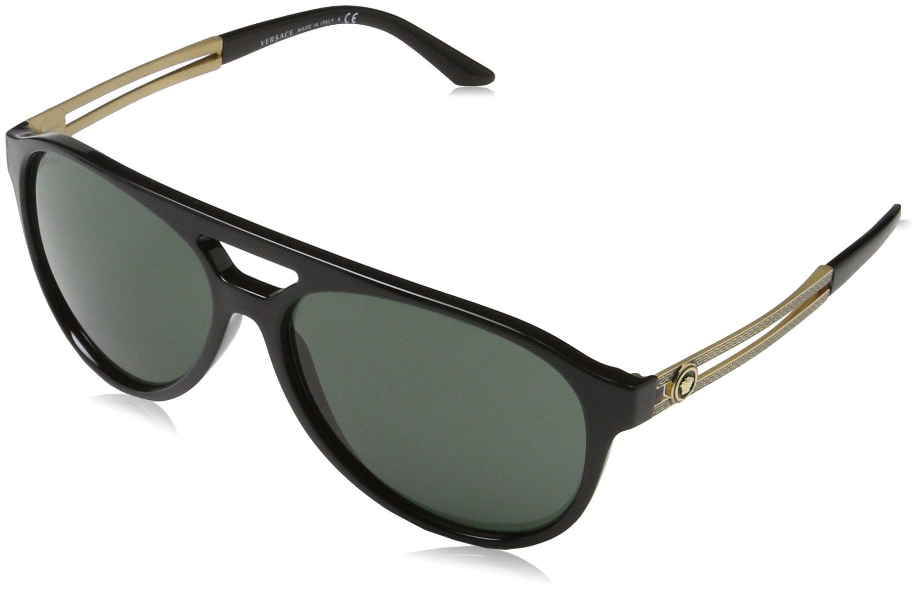 Versace Mens Sunglasses (VE4312) Black/Grey Plastic,Nylon - Non-Polarized - 60mm