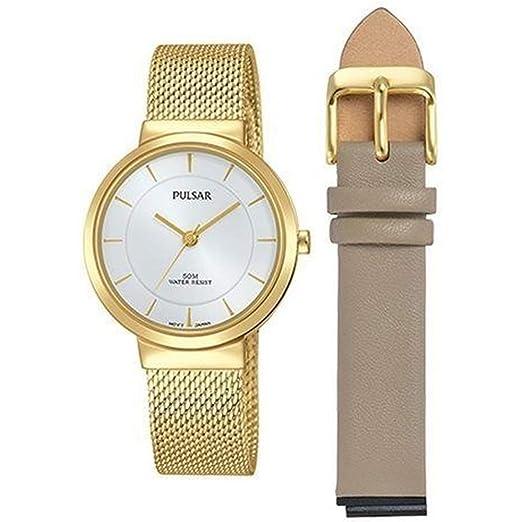 Pulsar Reloj de Mujer Cuarzo 30mm analógico Correa y Caja de Acero PH8402X1: Amazon.es: Relojes