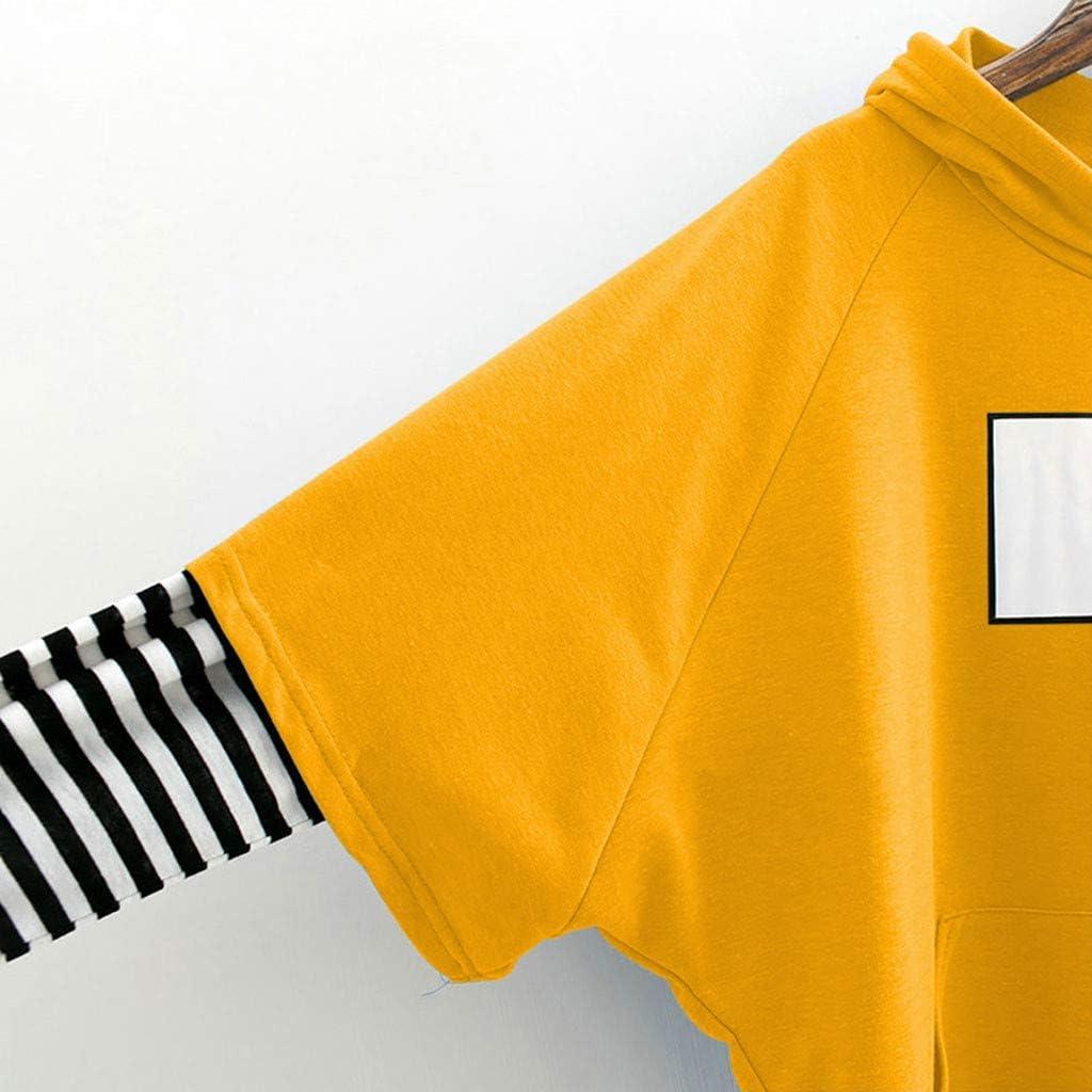 Covermason Sweats Court /à Capuche Dames Sweatshirt Femme Court Chic Sweat /à Capuche Fille Ados Impression Ray/é Chemise Polo Style Court Chemisier Top Pull