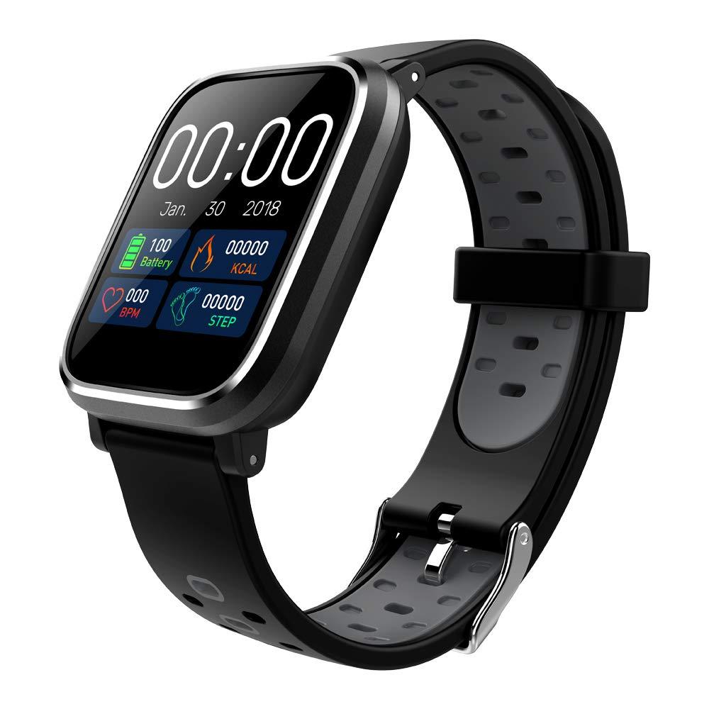 DIOLECT Smartwatch Wasserdicht Smart Watch Uhr mit Farbdisplay Blutdruck Pulsmesser GPS Fitness Tracker Armbanduhr, Setz-Alarm, Stoppuhr, SMS, Anruf-Kamera-Fernsteuerung Musik für Android und iOS