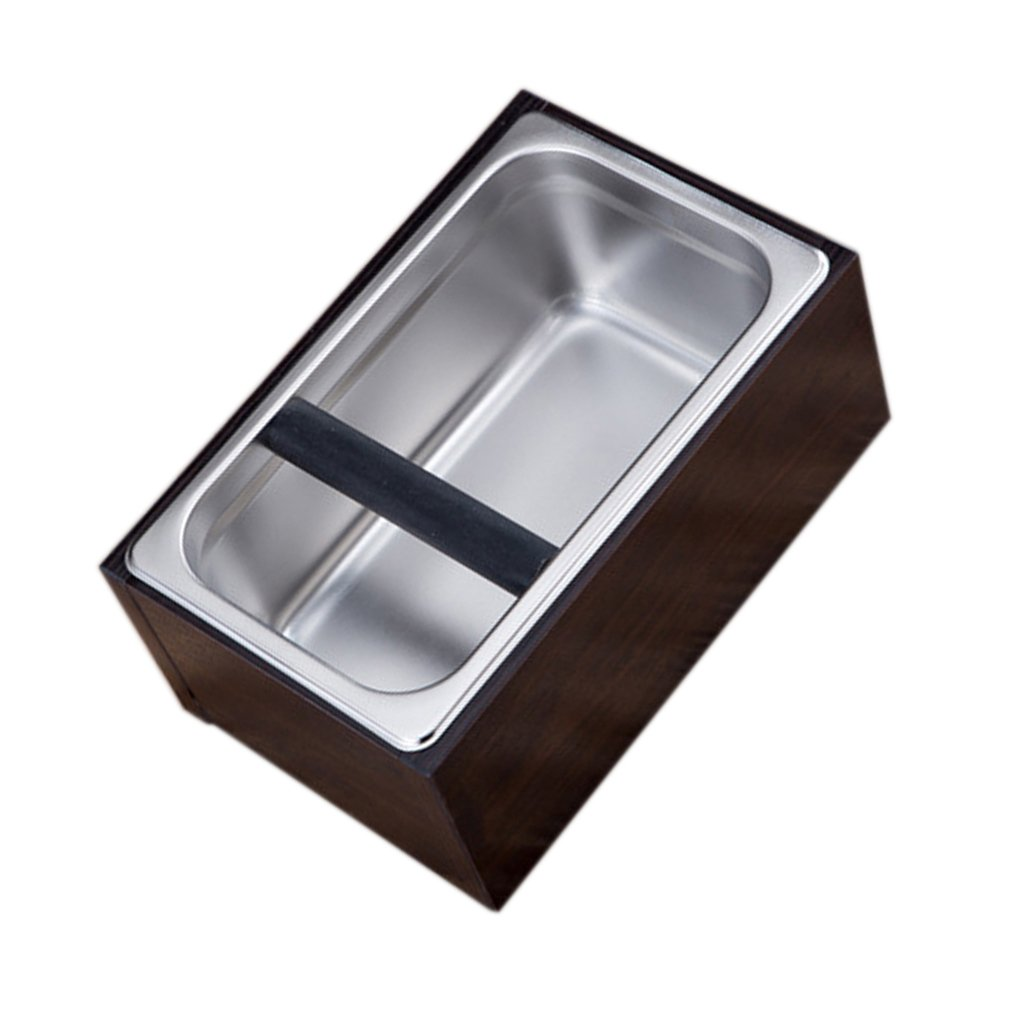 Sharplace Abschlagbehälter Abschlagkasten Knockbox aus Edelstahl - Kaffeesatzbehälter Tresterbehälter Abschlagbox Abklopfbehälter