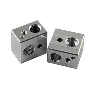 [Gulfcoast Robotics] 2 PCS MK10 Extruder Hotend Heater Block fits MP Maker Select Duplicator i3 3D Printer - Made by US company with quality and precision.