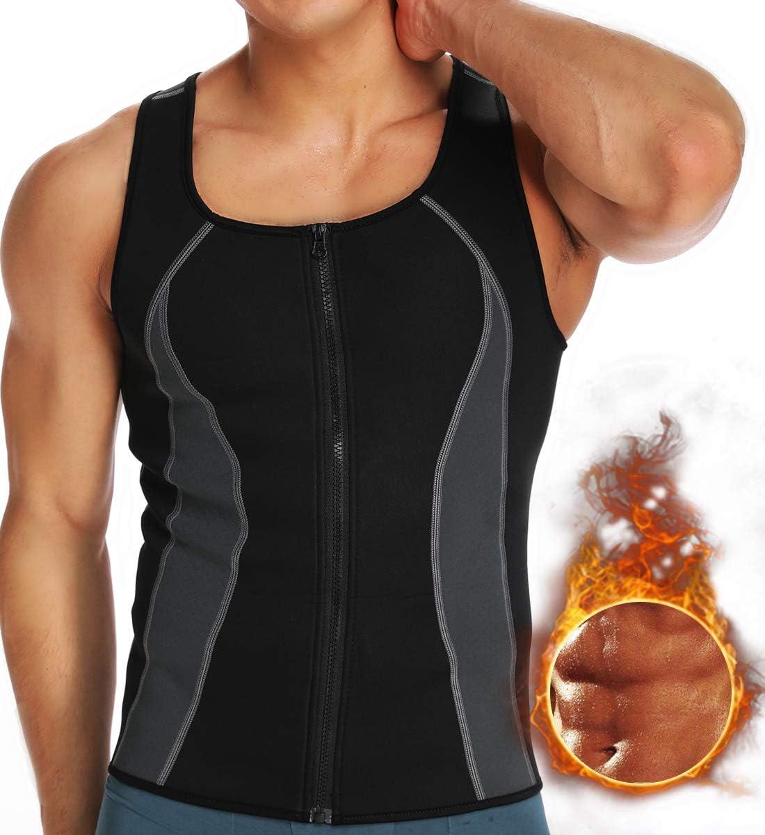 NOVECASA Sauna D/ébardeur Homme N/éopr/ène Gilet D/ébardeur de Sudation Hauts Transpiration Gymnastique Combustion des Graisses pour Fitness Yoga
